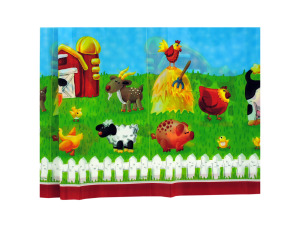 Wholesale: On the farm plastic tablecover