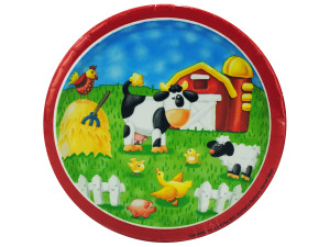"Wholesale: 8ct 7"" on the farm plates"
