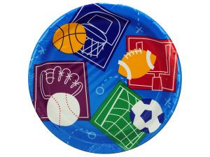 """Wholesale: 8pk 6.75"""" sport plates"""