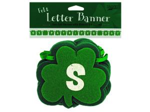 Wholesale: St. Patrick`s Day felt letter banner