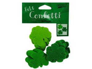 Wholesale: 36 count shamrocks felt confetti