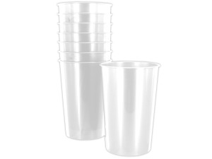 Wholesale: 8 pack 9oz white plastic cups