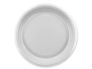 """Wholesale: 12pk 7"""" white plst plates"""