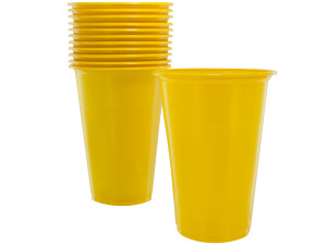 Wholesale: 12 pack 12 oz yellow plastic cups