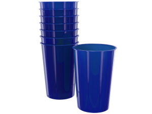 Wholesale: 8pk 9oz blue plastic cups