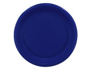"""Wholesale: 12 pack 7"""" blue plastic plates"""
