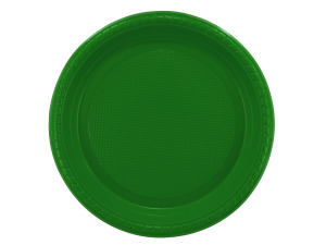 """Wholesale: 12 pack 7"""" green plastic plates"""