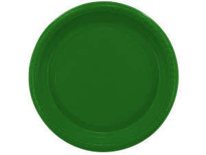 """Wholesale: 8 pack 9"""" green plastic plates"""