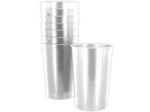 Wholesale: 8 pack 9oz clear plastic cups
