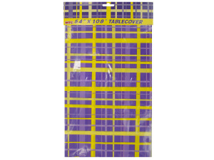 """Wholesale: 54""""x108"""" Purple/Yellow tablecover"""