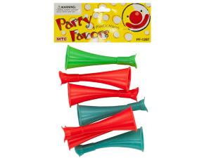 Wholesale: 8 pack plastic horns