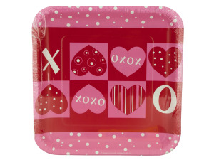"Wholesale: 8pk 9.125"" hearts plates"