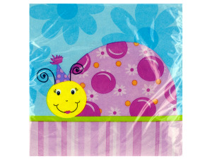 Wholesale: 18 pk 12 7/8 x 12 3/4 in. ladybug lunch napkins