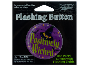 Wholesale: Positively Wicked Flashing Button