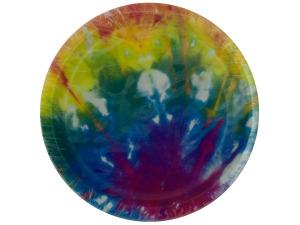 Wholesale: 10ct tie dye plates