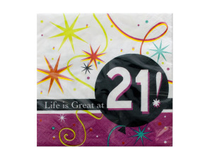 Wholesale: Life is Great at 21 Napkins Set