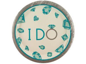 Wholesale: 8 pack celebrate diamonds i do plates 6 3/4 inch