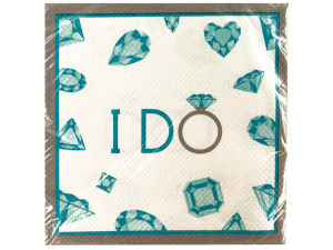 Wholesale: 16 pack celebrate diamonds lunch napkins 12 7/8 x 12 3/4 in.