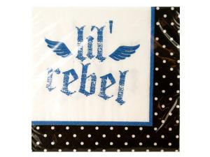 Wholesale: 16 pack first rebel beverage napkins 9 7/8 x 9 7/8 inch