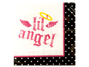 Wholesale: 16 pack first angel beverage napkins 9 7/8 x 9 7/8 inch