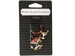 Wholesale: Martini Wine Glass Charms Set