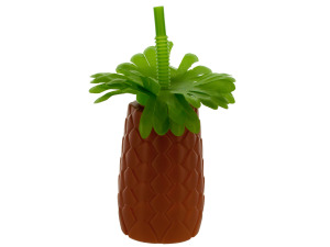 Wholesale: Palm Tree Sipper Cup with Straw