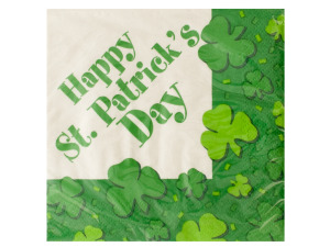 Wholesale: St. Patrick's Day Shamrocks Napkins Set