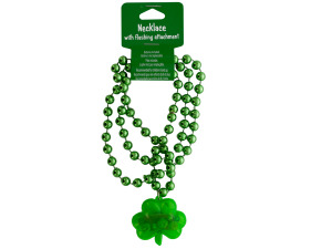 Wholesale: Shamrock Flashing Necklace