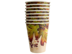 Wholesale: 12 oz. Leaves and Berries Cups Set