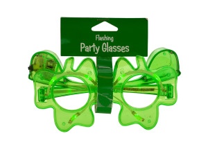 Wholesale: Shamrock Flashing Party Glasses