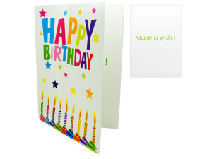 Wholesale: Extra large birthday card with envelope