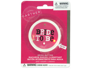 Wholesale: Flashing Bride to Be Bachelorette Button