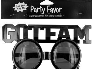 Wholesale: Go Team Shaped Party Favor Glasses