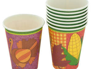 Wholesale: 9 oz. Thanksgiving Party Cups
