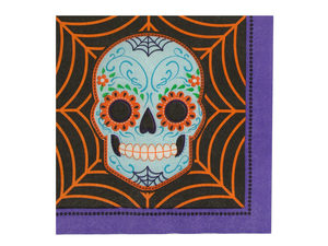 Wholesale: Day of the Dead Lunch Napkins Set
