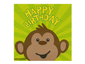Wholesale: Monkeyin' Around Happy Birthday Napkins Set