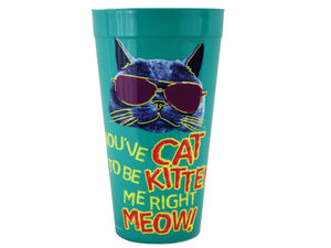Wholesale: You've Cat to Be Kitten Me Plastic Tumbler Cup