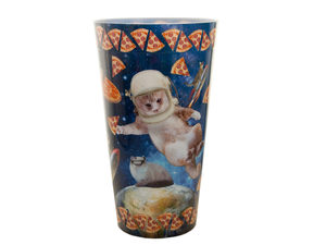 Wholesale: Cats & Pizza in Space Plastic Tumbler Cup