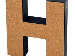 Wholesale: 'H' Decorative Cork Board Letter