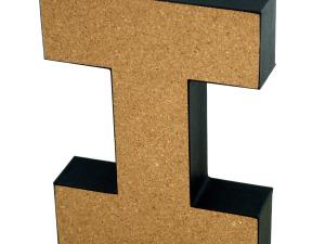 Wholesale: 'I' Decorative Cork Board Letter