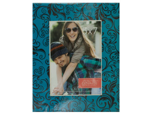 Teal/Black Flourishes Photo Mat