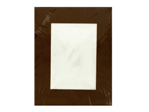 Solid Brown Photo Mat