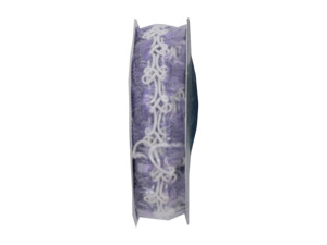 Wholesale: Lilac/white 4.5 foot novelty braid spool