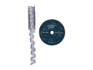 Wholesale: Lilac braided ribbon spool, 18 feet