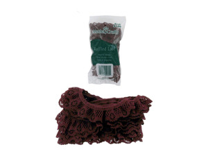 Wholesale: Cranberry-Colored Lace for Crafting or Sewing