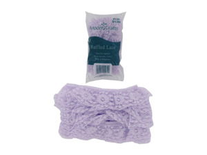 Wholesale: Lavender lace edge for crafts, sewing