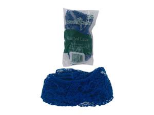Wholesale: Blue ruffled lace, 4 yards