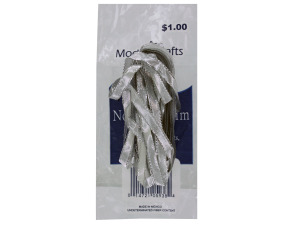 Wholesale: Silver thin flat novelty trim in bag