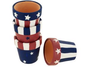Wholesale: Americana Terra Cotta Napkin Rings Set