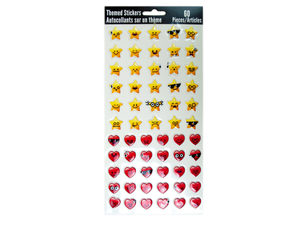 Wholesale: 60-Pack Heart & Star Stickers